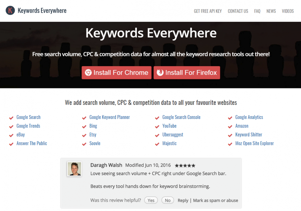 Keywords Everywhere Is The Best Free Keyword Research Tool, Hands Down